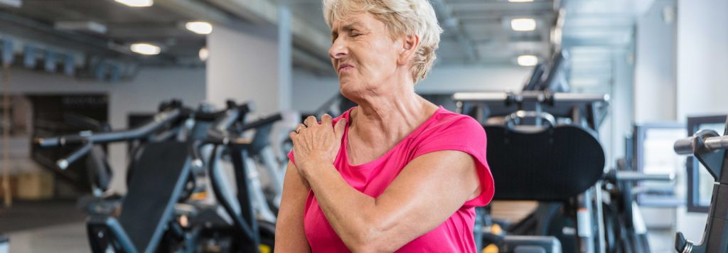 woman with joint pain